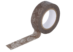 CL26534-02 Cinta adhesiva masking tape washi hydrangea marron Classiky s