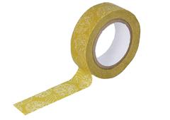CL26534-03 Cinta adhesiva masking tape washi hydrangea mostaza Classiky s