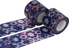 CL29120-03 Set 2 cintas adhesivas masking tape washi zwilinge violeta Classiky s