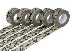 CL29123-01 Set 5 cintas adhesivas masking tape washi kratzer gris carbon Classiky s