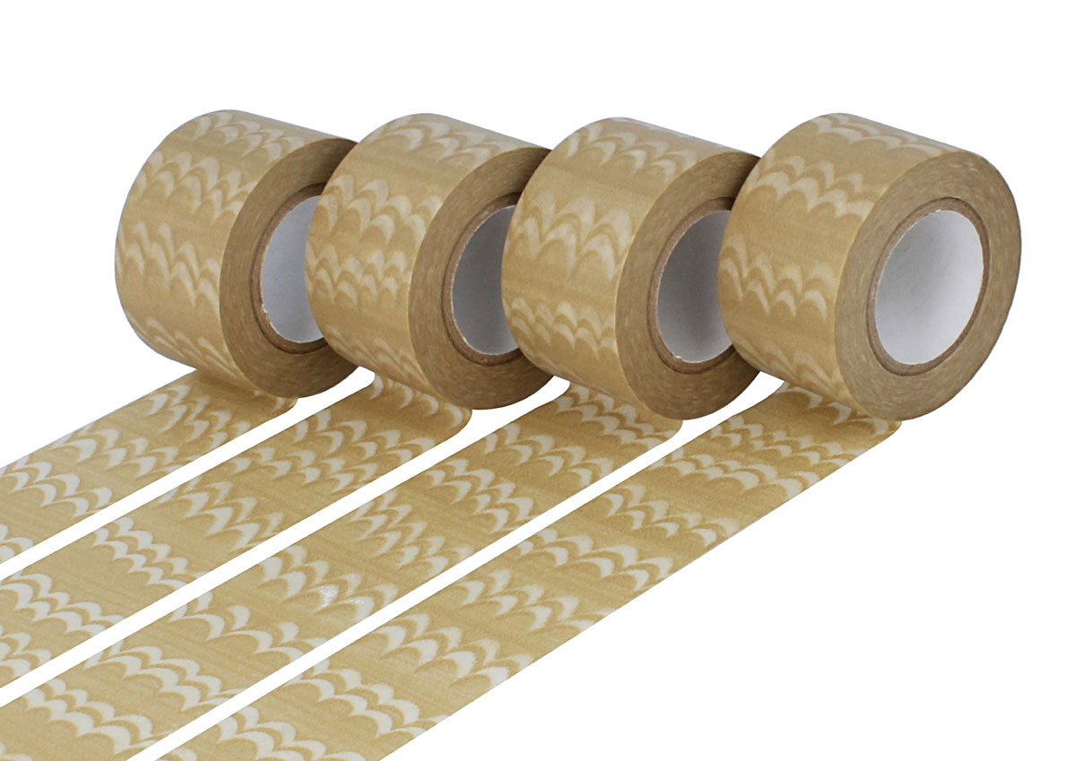 CL29126-01 Set 4 cintas adhesivas masking tape washi welle cafe con leche Classiky s