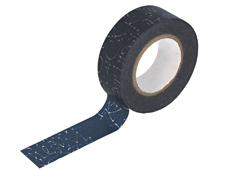 CL29129-01 Cinta adhesiva masking tape washi kuckuck azul marino Classiky s