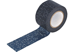 CL29130-01 Cinta adhesiva masking tape washi kuckuck azul marino Classiky s