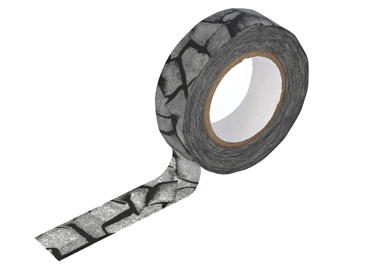 CL29135-02 Cinta adhesiva masking tape washi kratzer gris oscuro Classiky s