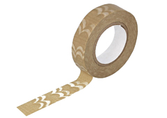 CL29138-01 Cinta adhesvia masking tape washi welle cafe con leche Classiky s