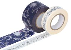 CL29141-06 Set 2 cintas adhesivas masking tape washi surtido disenos y medidas C Classiky s