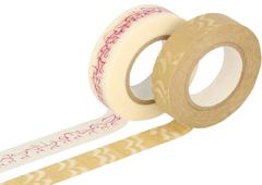 CL29141-10 Set 2 cintas adhesivas masking tape washi surtido disenos y medidas A Classiky s