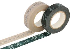 CL29141-12 Set 2 cintas adhesivas masking tape washi surtido disenos y medidas C Classiky s