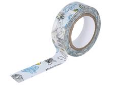 CL29926-01 Cinta adhesiva masking tape washi beasts azul Classiky s