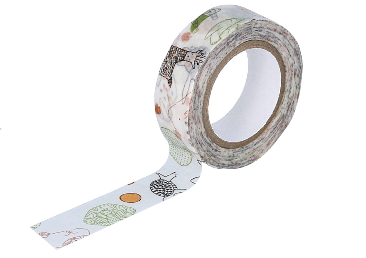 CL29926-02 Cinta adhesiva masking tape washi beasts verde Classiky s