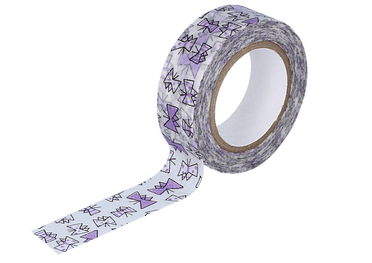 CL29926-03 Cinta adhesiva masking tape washi butterfly purpura Classiky s