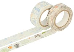 CL29927-02 Set 2 cintas adhesivas masking tape washi surtido disenos y medidas B Classiky s