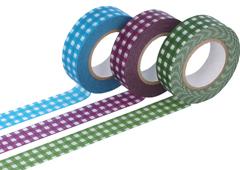CL45012-01 Set 3 cintas adhesivas masking tape washi cuadros colores surtidos Classiky s