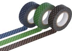 CL45012-02 Set 3 cintas adhesivas masking tape washi puntos oscuro colores surtidos Classiky s