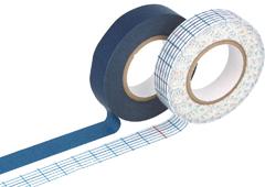 CL45017-01 Set 2 cintas adhesivas masking tape washi indigo Classiky s