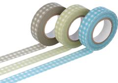 CL45026-01 Set 3 cintas adhesivas masking tape washi cuadros colores surtidos Classiky s