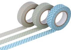 CL45026-03 Set 3 cintas adhesivas masking tape washi puntos colores surtidos Classiky s