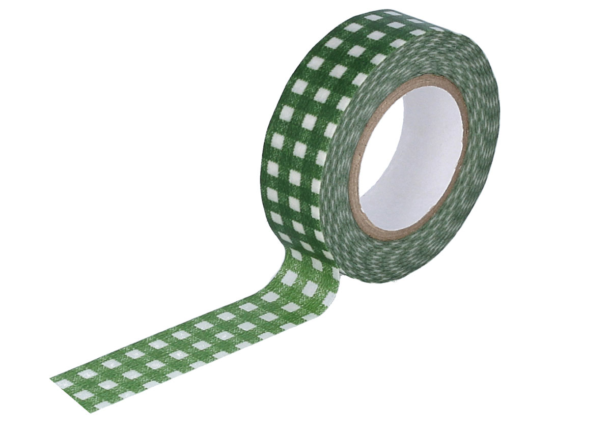 CL45028-01 Cinta adhesiva masking tape washi cuadros verde Classiky s