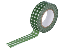 CL45028-01 Cinta adhesiva masking tape washi cuadros verde Classiky s