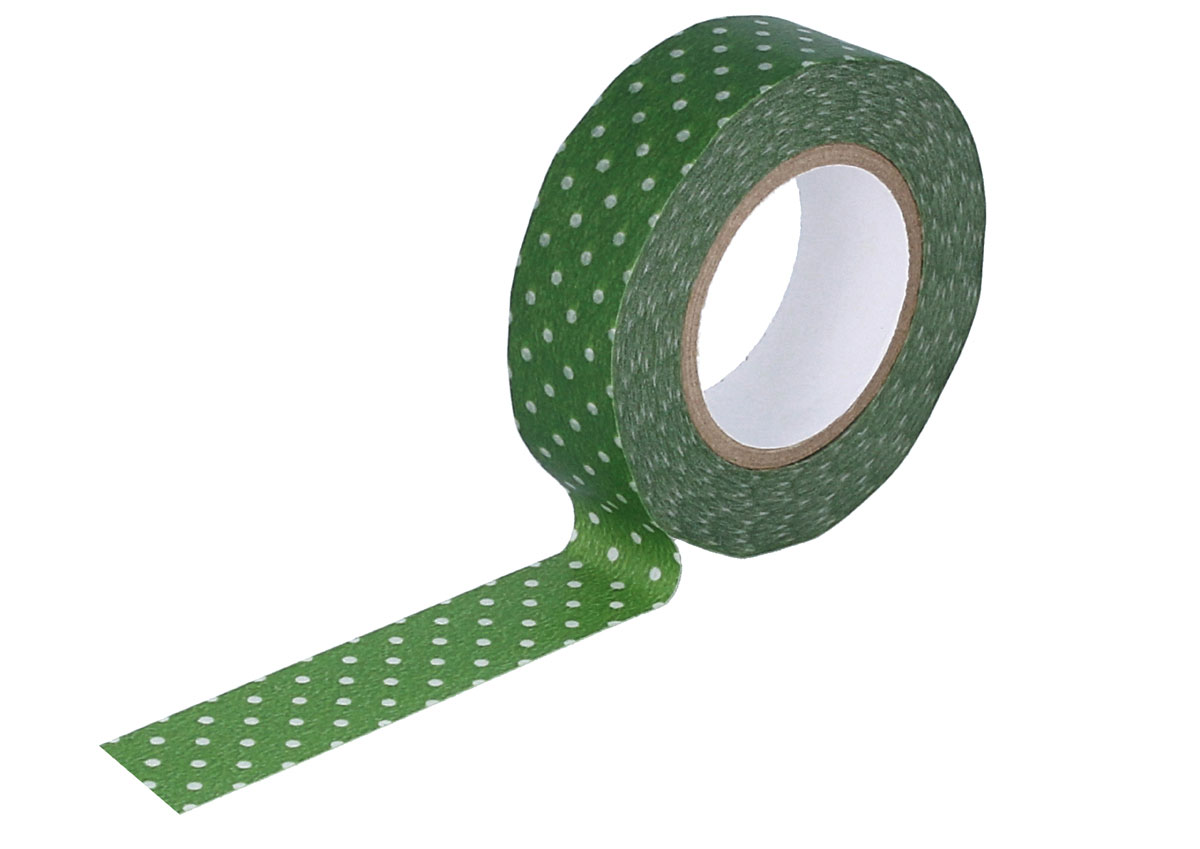 CL45028-04 Cinta adhesiva masking tape washi puntitos verde Classiky s