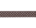 CL45028-05 Cinta adhesiva masking tape washi puntitos marron oscuro Classiky s - Ítem2