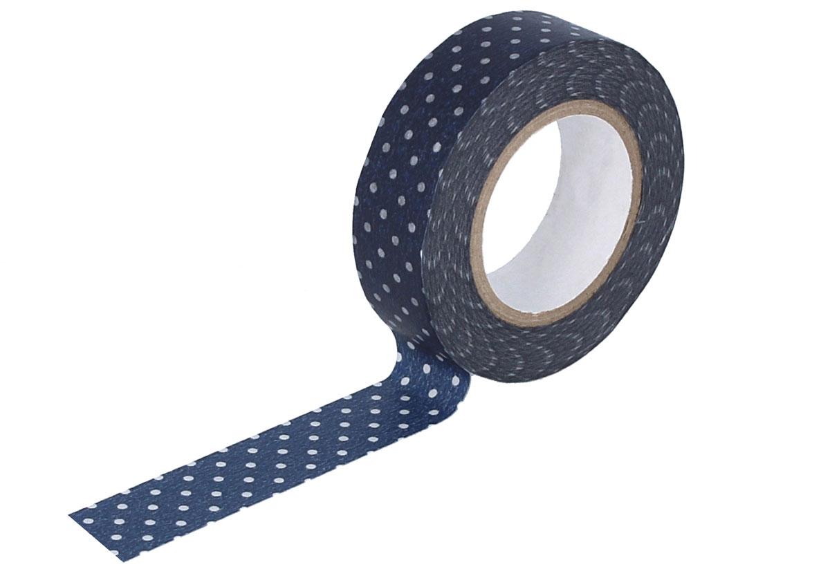 CL45028-06 Cinta adhesiva masking tape washi puntitos azul oscuro Classiky s