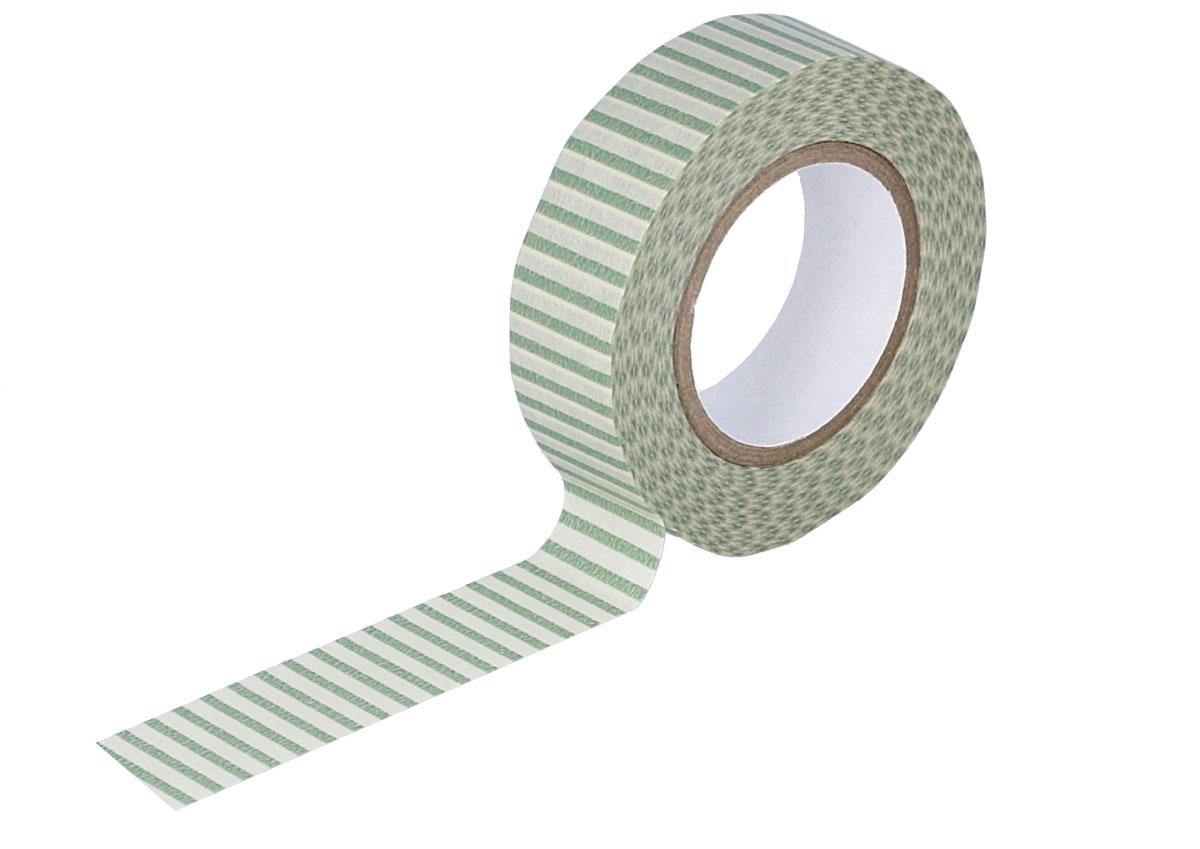 CL45028-10 Cinta adhesiva masking tape washi rayas verde Classiky s