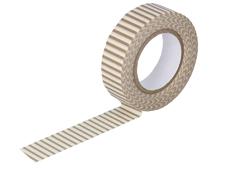 CL45028-12 Cinta adhesiva masking tape washi rayas avellana Classiky s