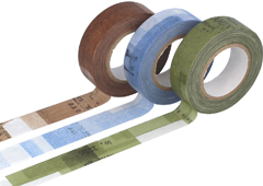 CL45202-03 Set 3 cintas adhesivas masking tape washi collage colores surtidos Classiky s