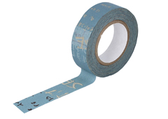 CL45203-04 Cinta adhesiva masking tape washi graffiti B azul Classiky s