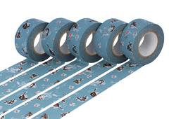 CL45321-04 Set 5 cintas adhesivas masking tape washi girls Asagi azul Classiky s - Ítem