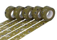 CL45321-06 Set 5 cintas adhesivas masking tape washi girls Yomogi verde Classiky s