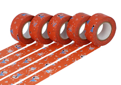 CL45321-10 Set 5 cintas adhesivas masking tape washi love letter naranja Classiky s