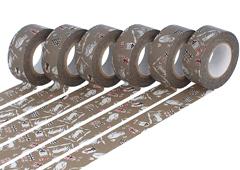 CL45321-17 Set 6 cintas adhesivas masking tape washi cats Kasshoku marron Classiky s - Ítem