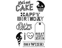CL704 RSVP- SWEET WISHES -STAMP- Hero arts