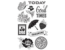 CL734 FRESH CUT HERO ARTS - CLEAR STAMP - SUNSHINE Hero arts