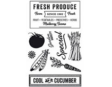 CL741 HERBS HONEY HERO ARTS - CLEAR STAMP - COOL AS A CUCUMBER Hero arts