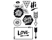 CL743 HIGHLINE HERO ARTS - CLEAR STAMP - LIFE IS GOOD Hero arts