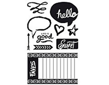 CL744 HIGHLINE HERO ARTS - CLEAR STAMP - GOOD TIMES Hero arts