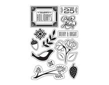CL791 Set 12 sellos acrilicos transparentes Hero arts
