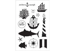 CL841 Set 13 sellos acrilicos transparentes Anchors Aweigh Hero arts