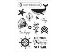 CL842 Set 13 sellos acrilicos transparentes Set Sail Hero arts