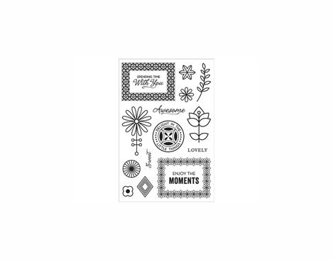 CL843 Set 14 sellos acrilicos transparentes Spanding time with you Hero arts