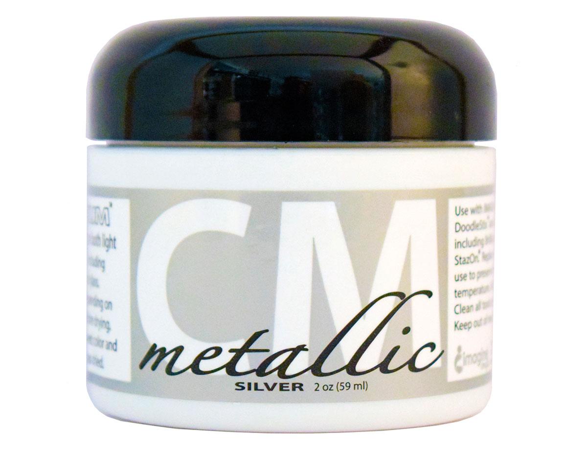 CM-MET-092 Pintura 3D metalica plata Creative Medium