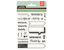 CPT-4407 CAPTURE 2- ACRYLIC STAMP - GIVE CREDIT Basic Grey