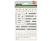 CPT-4408 CAPTURE 2- ACRYLIC STAMP - UNIVERSAL CALENDAR Basic Grey