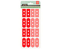 CPT-4411 CAPTURE 2- ATTACH ME STICKERS - RED-PINK Basic Grey