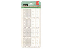CPT-4412 CAPTURE 2- ATTACH ME STICKERS - CLEAR-WHITE Basic Grey