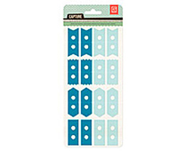 CPT-4414 CAPTURE 2- ATTACH ME STICKERS - PEACOCK-AQUA Basic Grey