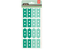 CPT-4415 CAPTURE 2- ATTACH ME STICKERS - EMERALD-SEAFOAM Basic Grey